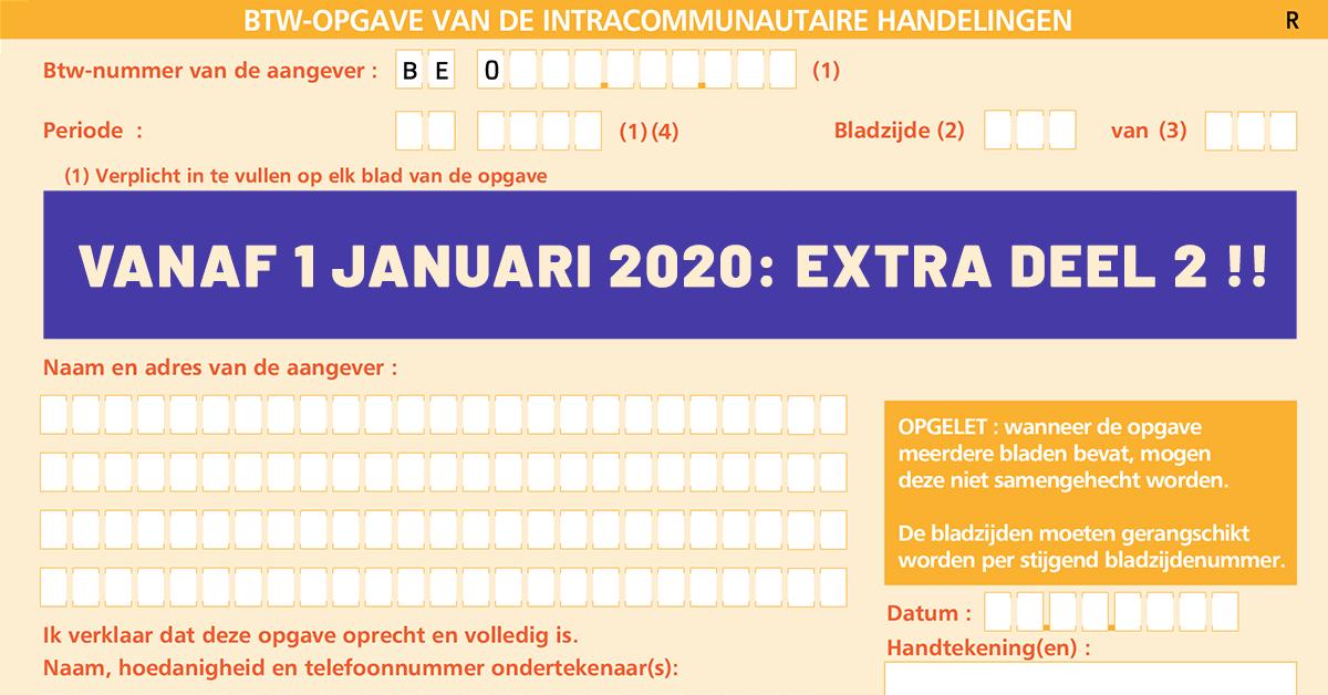 Nieuwe IC Opgave: twee delen vanaf 2020!