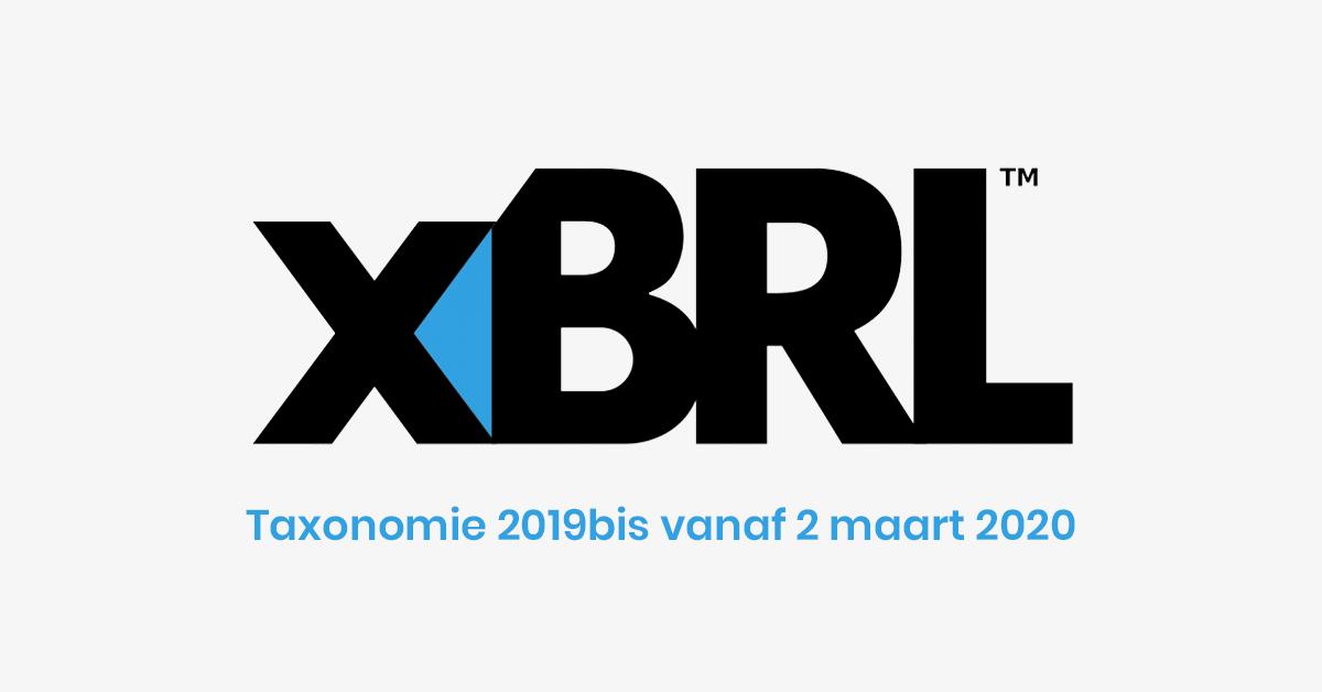 XBRL - taxonomie 2019bis vanaf 2 maart 2020!