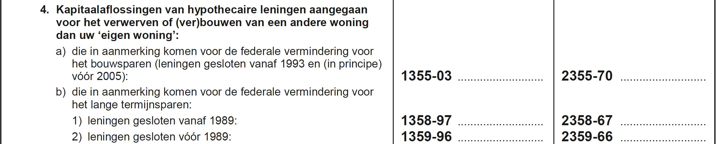 Vak IX - federaal - lening 1989