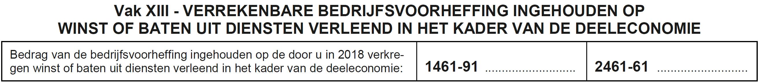 Vak IX Federaal bv deeleconomie