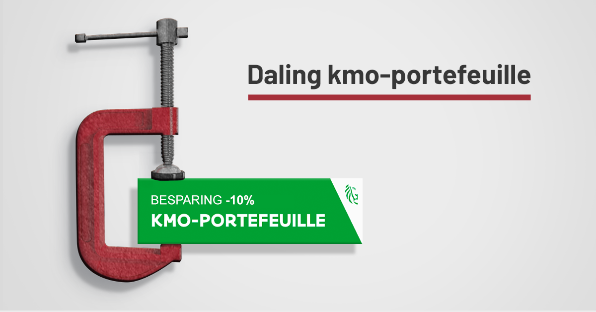 Daling KMO-portefeuille