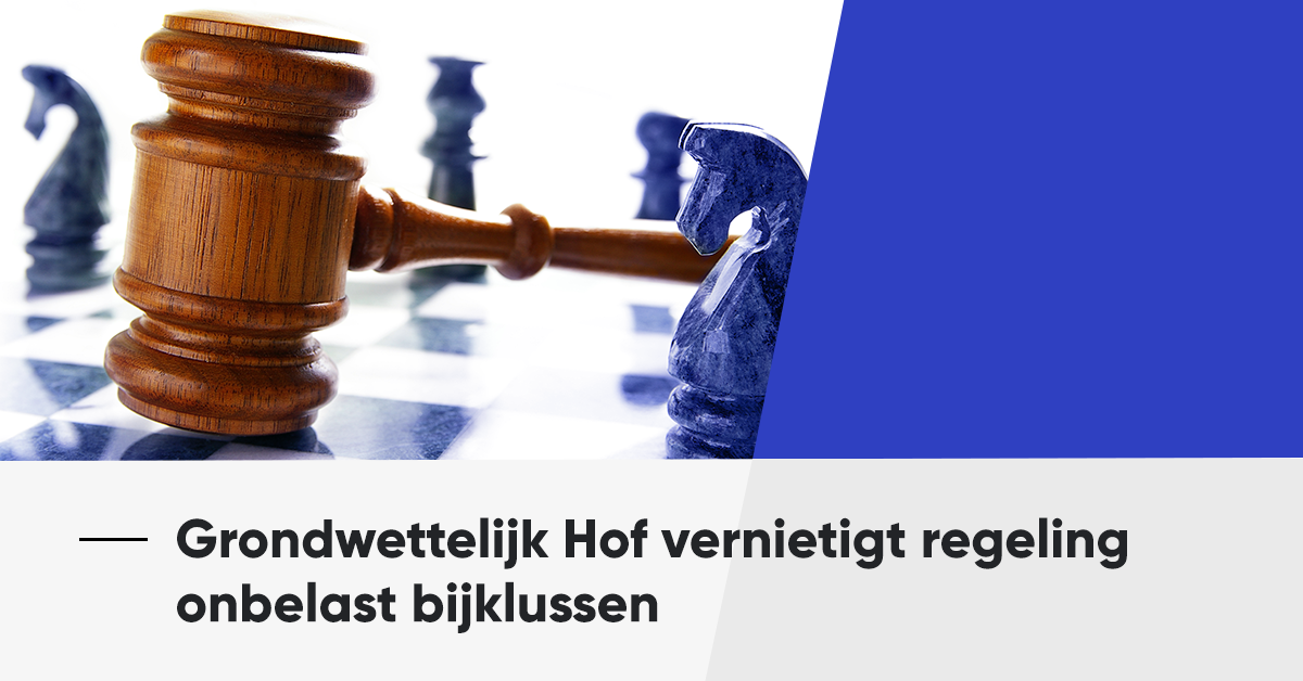 Grondwettelijk Hof vernietigt regeling onbelast bijklussen