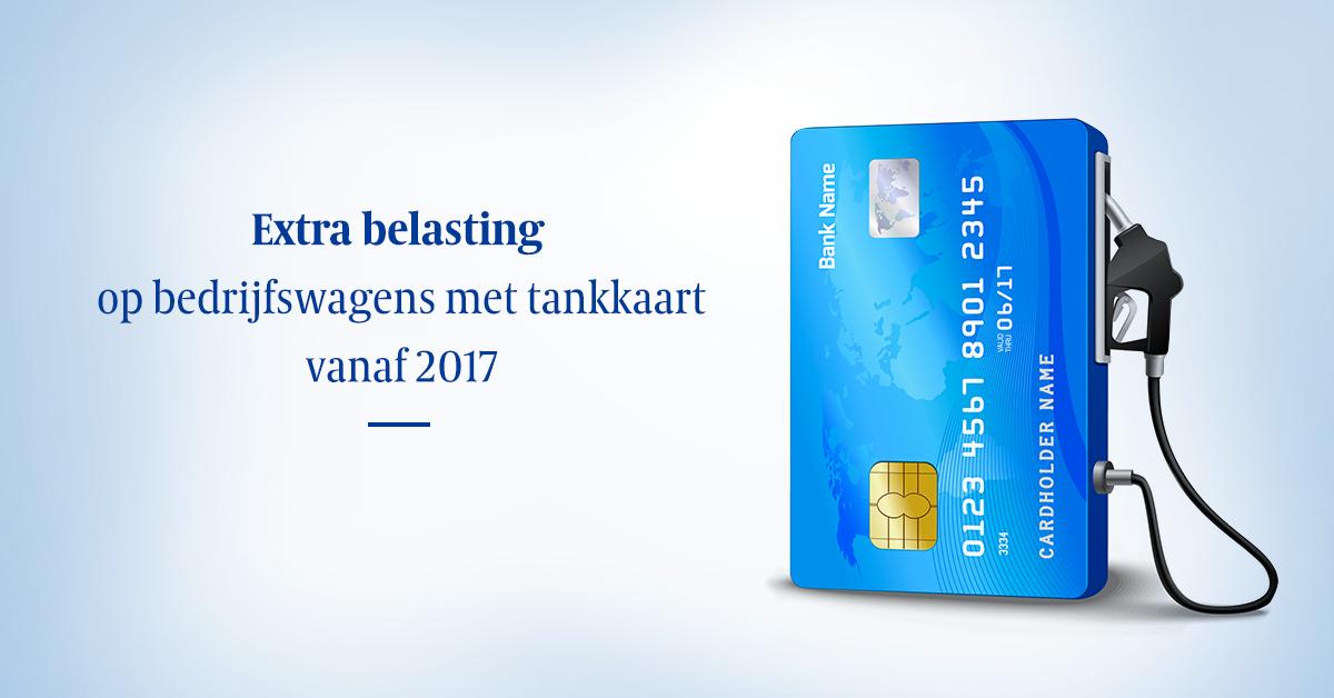 Extra belasting op bedrijfswagens met tankkaart vanaf 2017