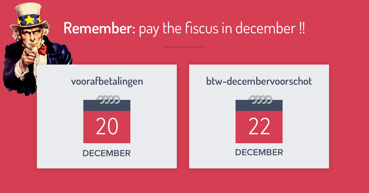 Remember: pay the fiscus in december!