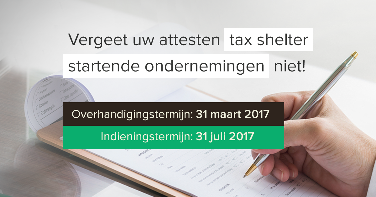 Tax shelter startende ondernemingen