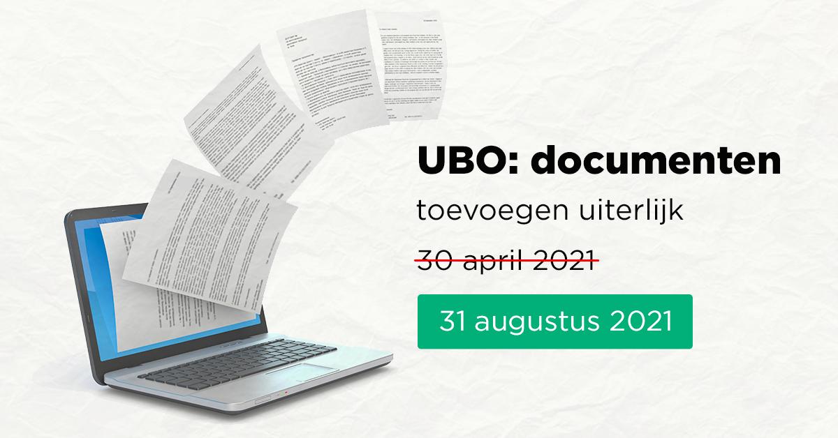 UBO: documenten toevoegen uiterlijk 30 april 2021