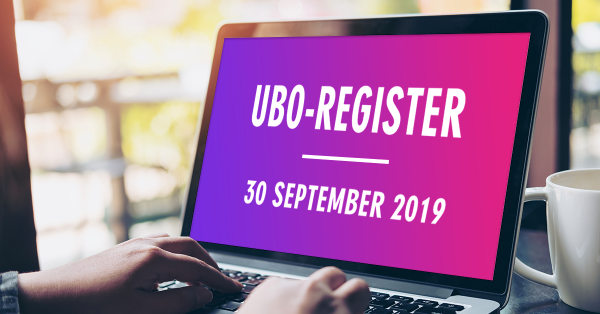 UBO-register deadline 30 september 2019